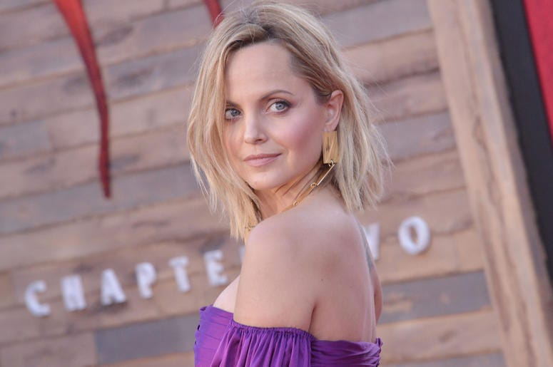 Mena Suvari arrives at the Warner Bros. Pictures' IT CHAPTER TWO Premiere held at the Regency Village Theatre in Westwood, CA on Monday, August 26, 2019.