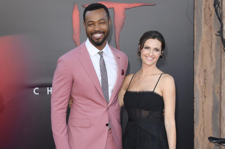 (L-R) Isaiah Mustafa and Lisa Mitchell at the Warner Bros. Pictures' IT CHAPTER TWO Premiere held at the Regency Village Theatre in Westwood, CA on Monday, August 26, 2019.