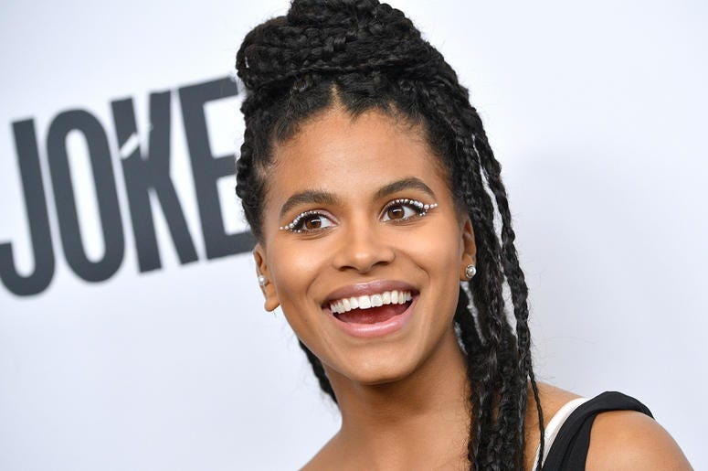 """Actress Zazie Beetz attends the """"Joker"""" Premiere at the 57th New York Film Festival in New York, NY, October 2, 2019."""