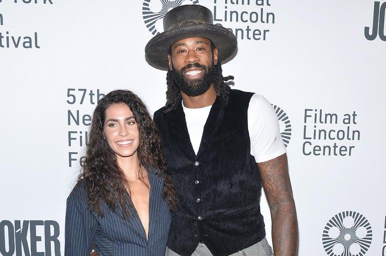 "TIffany Gerber and DeAndre Jordan attend the ""Joker"" Premiere at the 57th New York Film Festival in New York, NY, October 2, 2019."