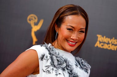 Carrie Ann Inaba arrives at night two of the Creative Arts Emmy Awards at the Microsoft Theater in Los Angeles
