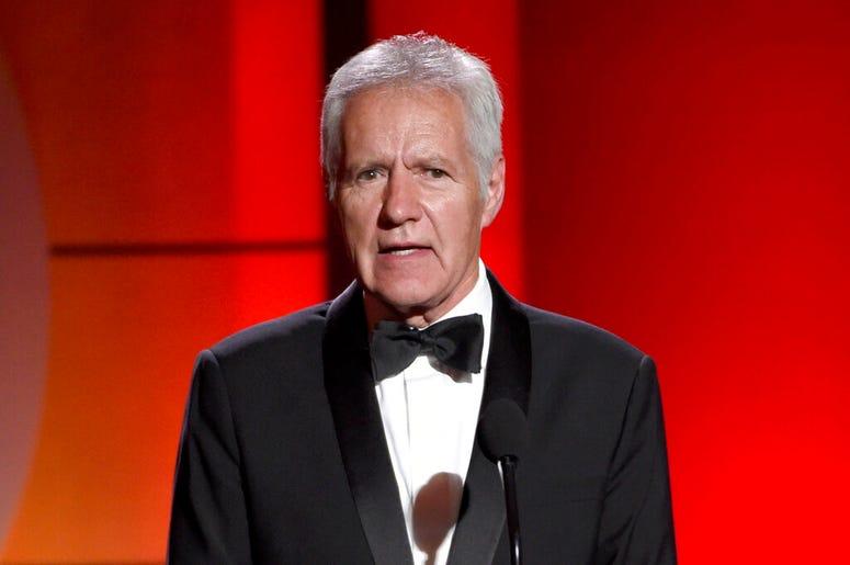 Alex Trebek speaks at the 44th annual Daytime Emmy Awards