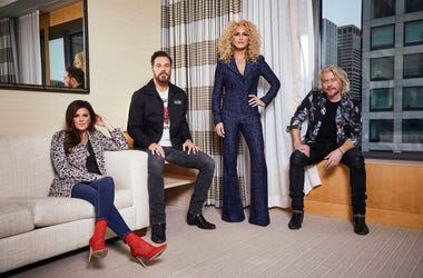 "Little Big Town, from left, Karen Fairchild, Jimi Westbrook, Kimberly Schlapman and Phillip Sweet posing for a portrait in New York to promote their new album ""Nightfall,"" out on Friday."