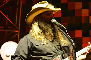 Chris Stapleton on stage at KeyBank Pavilion in Pittsburgh