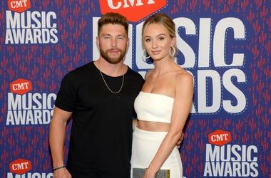hris Lane and Lauren Bushnell attend the 2019 CMT Music Awards at Bridgestone Arena on June 05, 2019 in Nashville, Tennessee