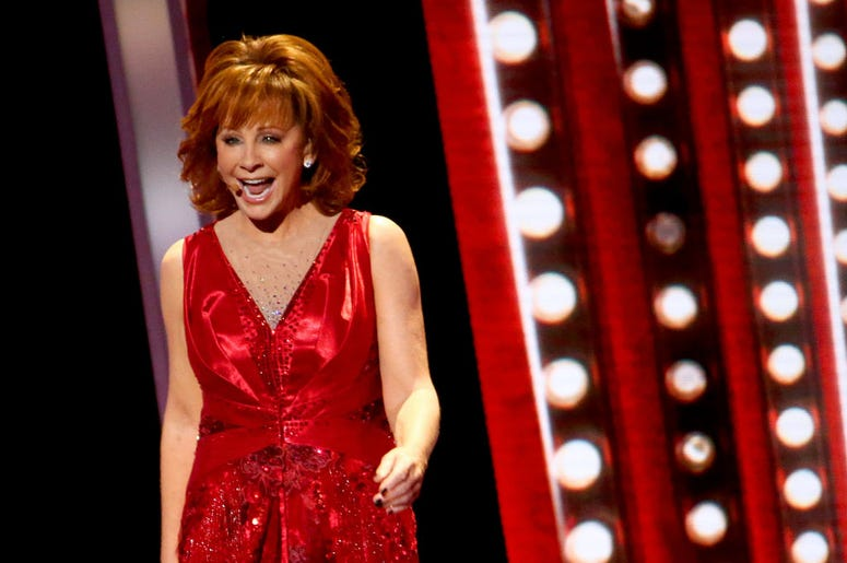 Reba McEntire performs on stage