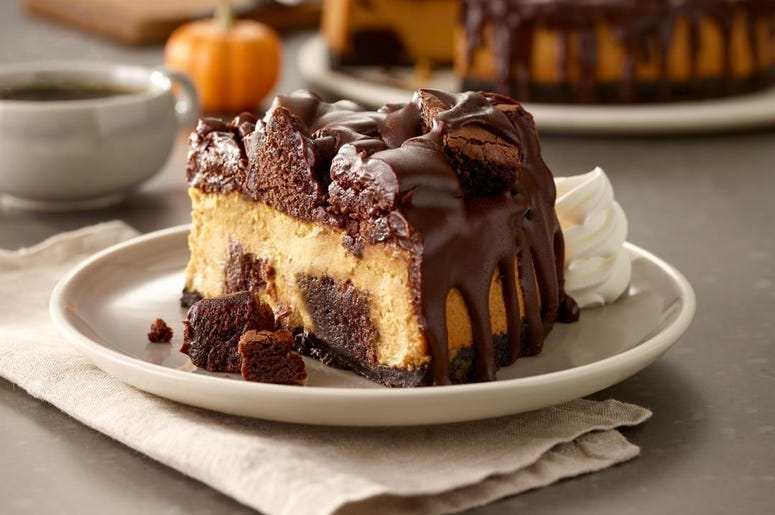 Olive Garden Chocolate Chunkin' Pumpkin Cheesecake