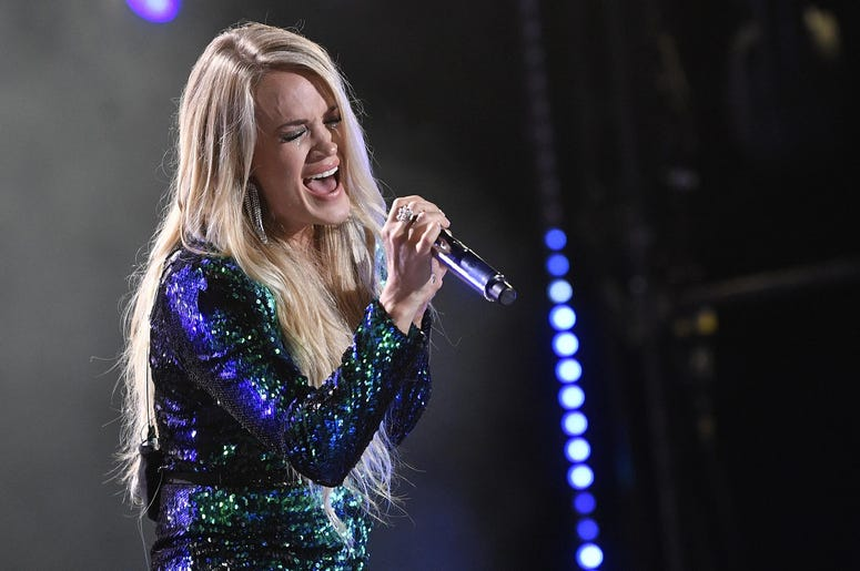 Carrie Underwood performs at the 2018 CMA Music Fest