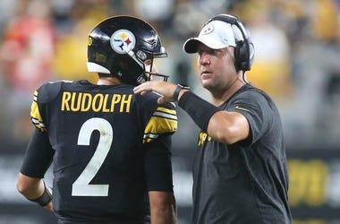 Pittsburgh Steelers quarterbacks Mason Rudolph and Ben Roethlisberger
