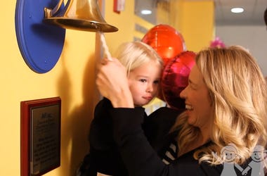 Watch 3-Year-Old Girl Ring Bell To Celebrate End of Cancer Treatment