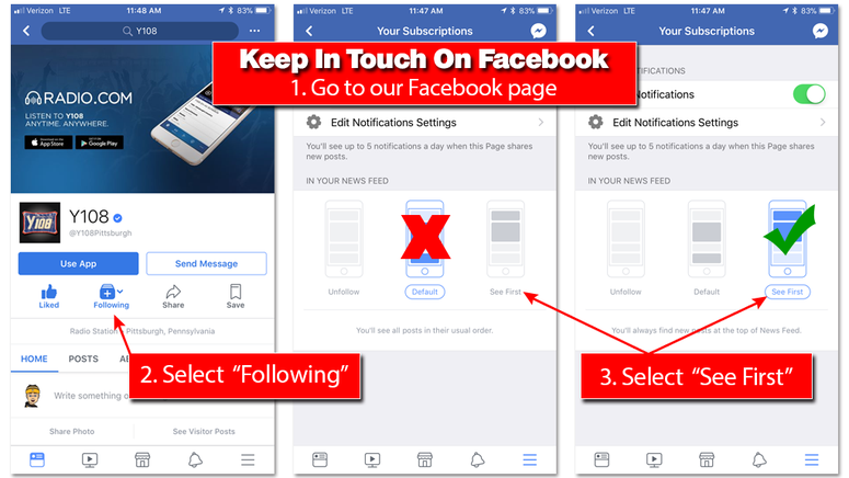 Facebook Mobile Instructions