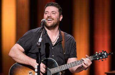 Chris Young performs as a guest of the Grand Ole Opry