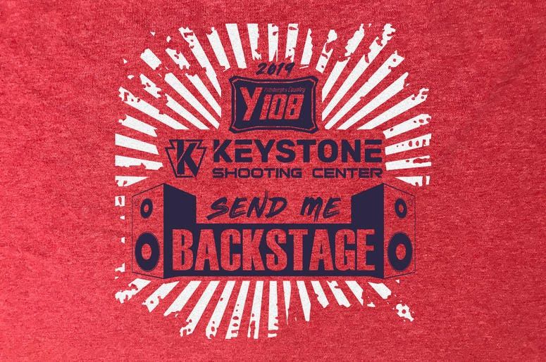 Y108 Keystone Shooting Center Send Me Backstage T-Shirt 2019