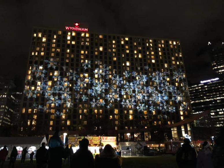 Light Show at Santa Spectacular