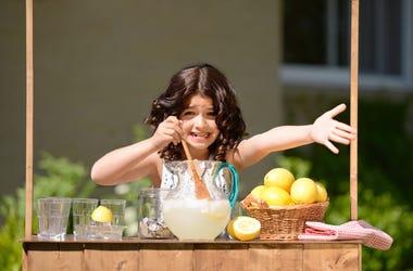 Little Girl at Lemonade Stand