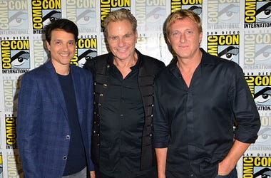 Cobra Kai Stars Ralph Macchio, Martin Kove & William Zabka