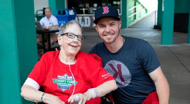 Brock Holt with Lilla Woodhouse