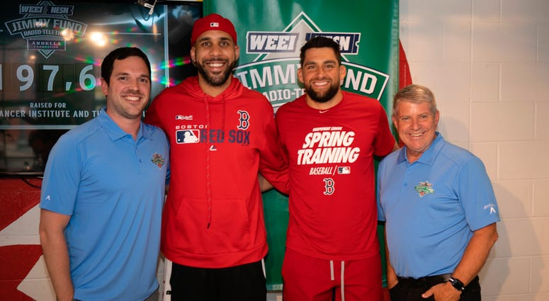 David Price and Nathan Eovaldi with Dale and Keefe