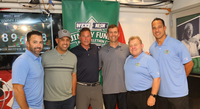 Alex Cora, Bruce Cassidy, and Brad Stevens with OMF