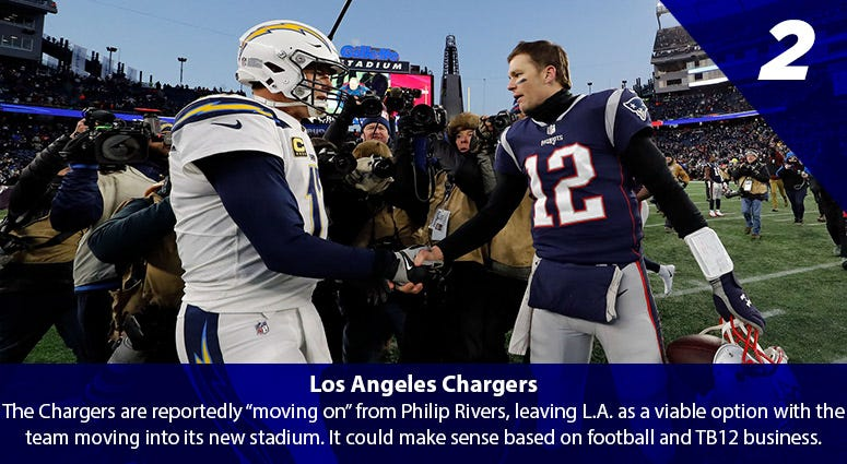 Tom Brady vs. the Los Angeles Chargers