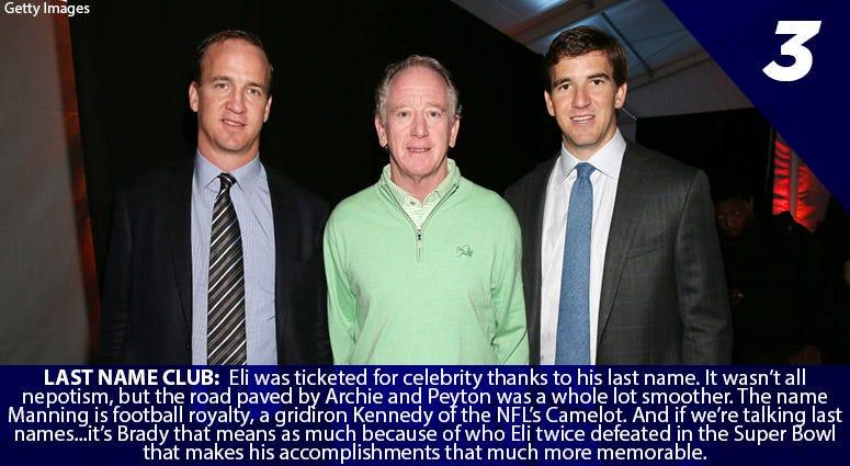 Peyton Manning, Archie Manning, Eli Manning