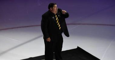 Bruins anthem singer Todd Angilly