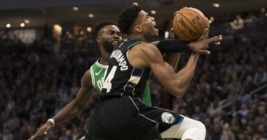 Jaylen Brown defends Giannis Antetokounmpo