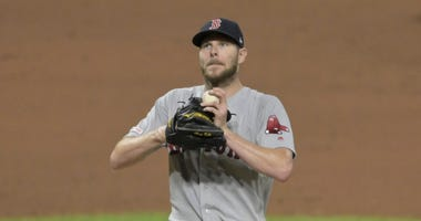 Chris Sale plays for the Red Sox