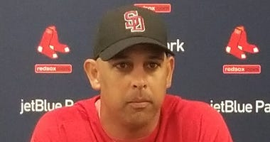 Alex Cora Stoneman Douglas High School hat