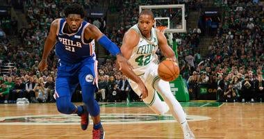 Sixers center Joel Embiid and Celtics forward Al Horford