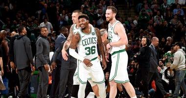 Celtics guard Marcus Smart and forward Gordon Hayward