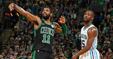 Celtics guard Kyrie Irving and Hornets guard Kemba Walker
