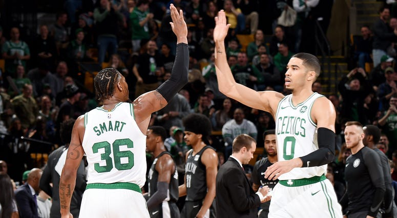 Marcus Smart and Jayson Tatum