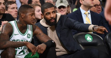 Terry Rozier and Kyrie Irving