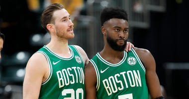 Gordon Hayward and Jaylen Brown