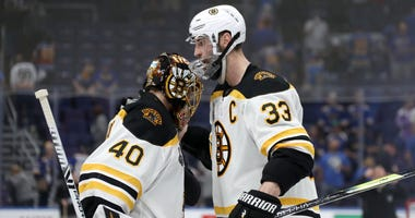 Zdeno Chara Tuukka Rask Boston Bruins