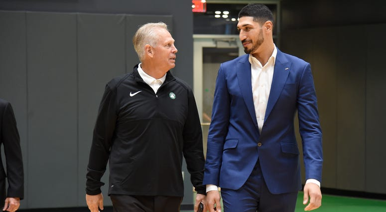 Danny Ainge and Enes Kanter