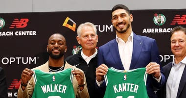 Kemba Walker and Enes Kanter
