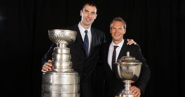 Zdeno Chara Boston Bruins Nicklas Lidstrom Detroit Red Wings