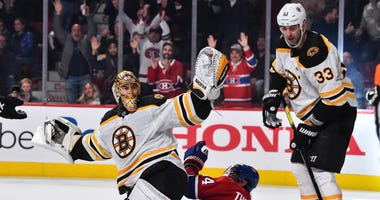Tuukka Rask Boston Bruins Zdeno Chara Montreal Canadiens