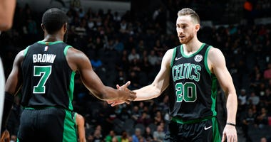 Jaylen Brown and Gordon Hayward
