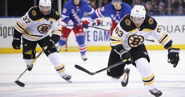Brad Marchand Patrice Bergeron Boston Bruins New York Rangers