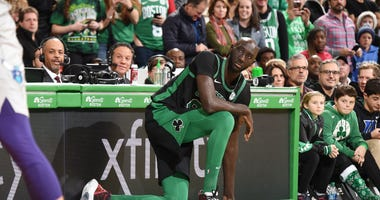 Tacko Fall gets ready to enter for the Celtics