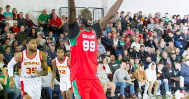 Tacko Fall holds down the paint in Maine