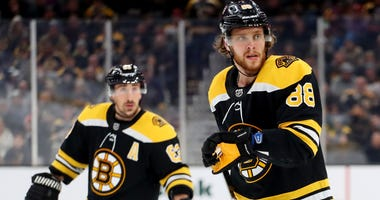 David Pastrnak Brad Marchand Boston Bruins
