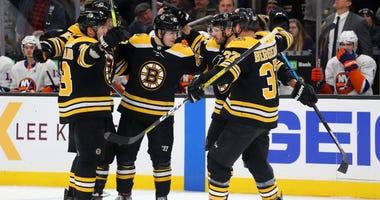 Boston Bruins Torey Krug David Krejci Brad Marchand Patrice Bergeron