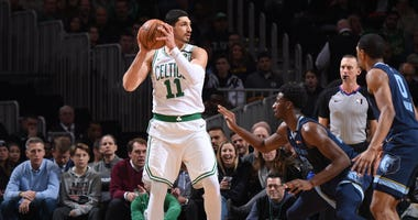Enes Kanter gets ready to make a move against the Grizzlies