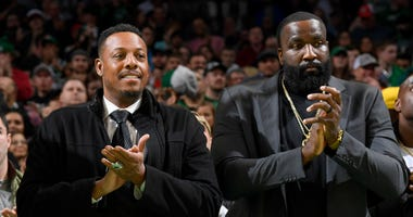 Paul Pierce and Kendrick Perkins