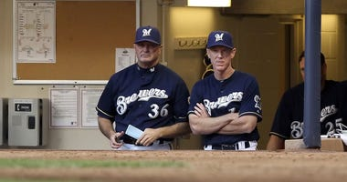 Jerry Narron and Ron Roenicke during their days with the Brewers