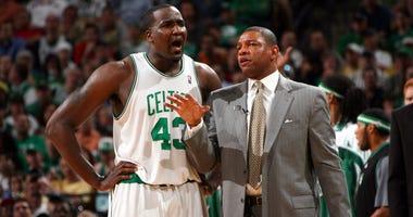 Former Celtics Kendrick Perkins and Doc Rivers